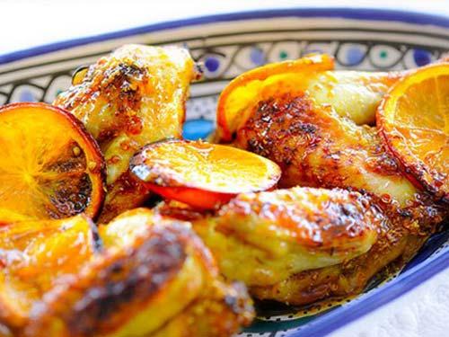 Курица кусочками с апельсинами в духовке рецепт
