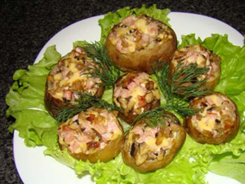 Фаршированный картофель с курицей рецепты с фото